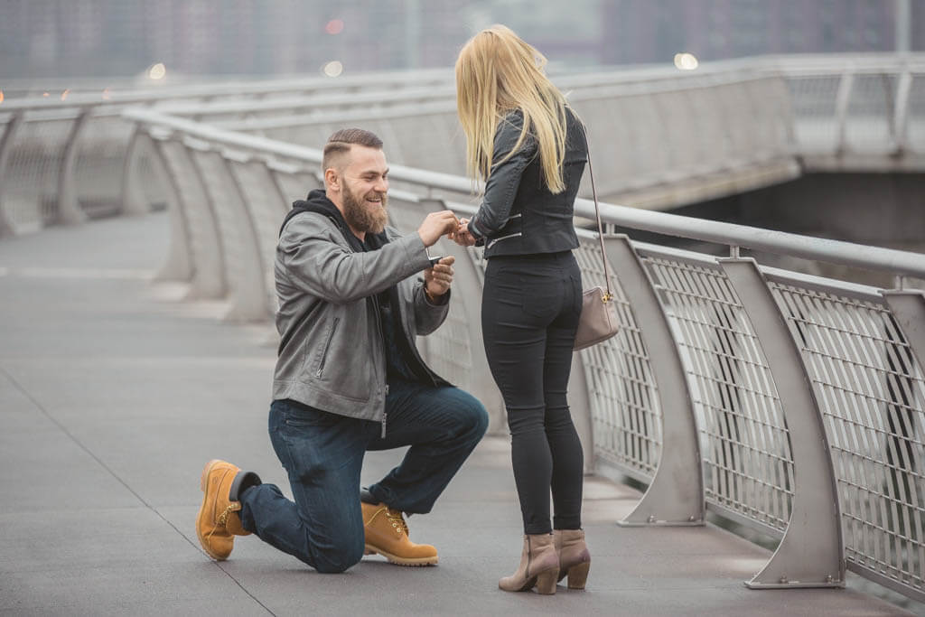 proposal photography in new york secret wedding proposal