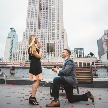 Roof top proposal New York