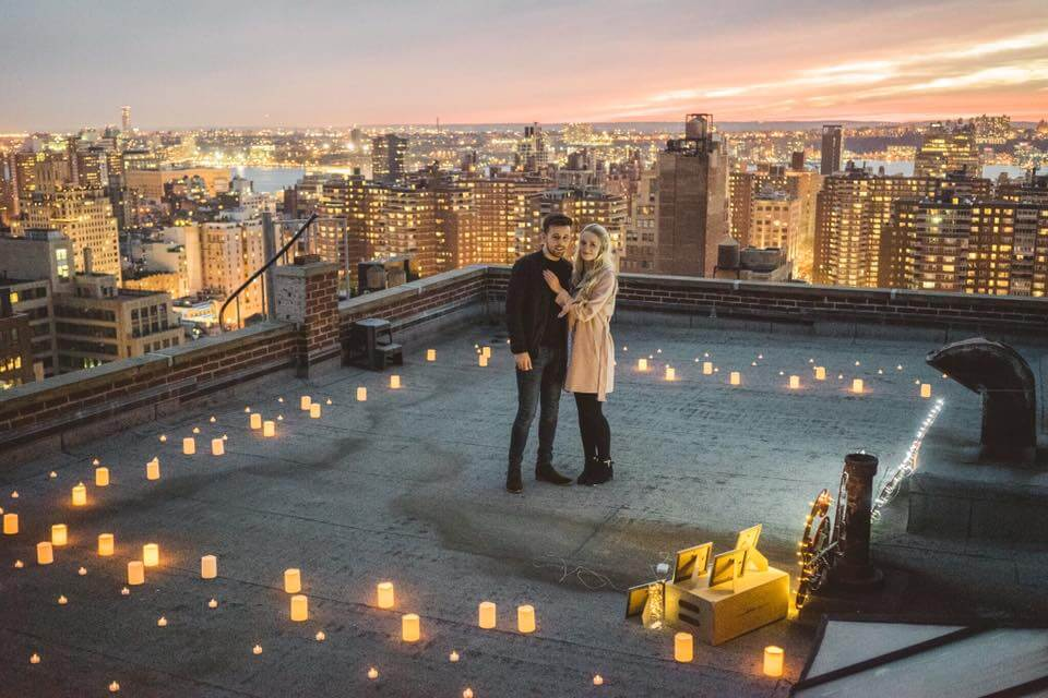 Manhattan Sunset Rooftop Proposal Ideas And Planning