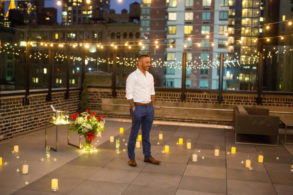 Easter Day Romantic Rooftop Proposal Proposal Ideas And