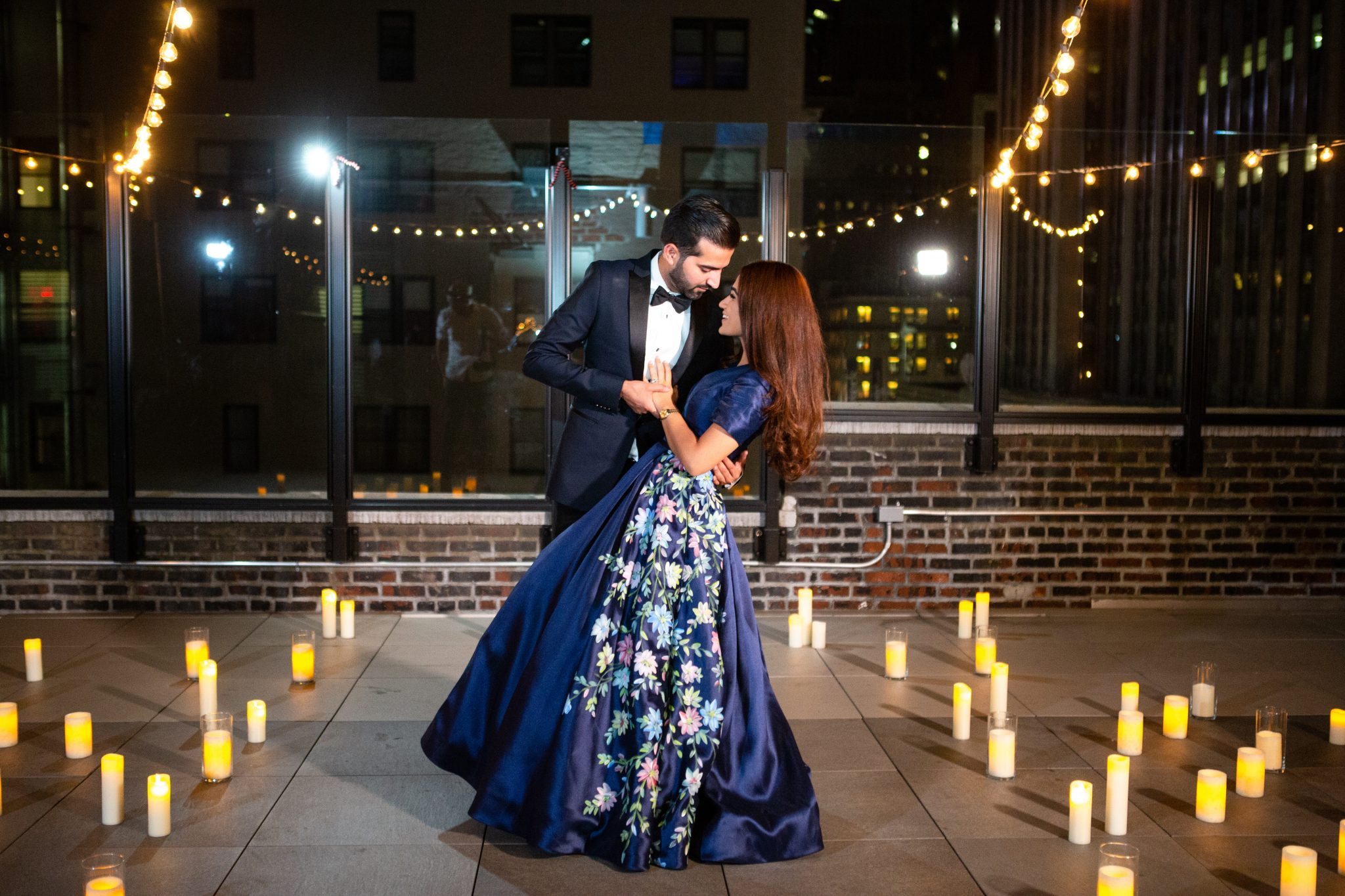 how to convince her to wear a stunning dress for a surprise proposal